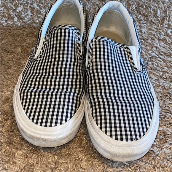 Vans Shoes | Vans Gingham Slip Ons